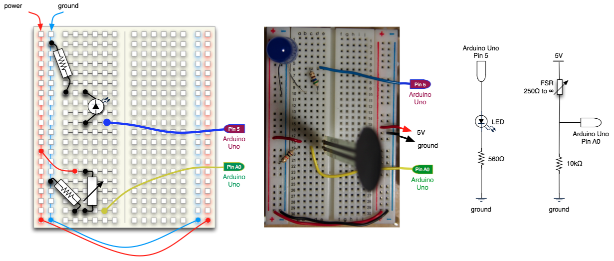 Force-sensitive resistor and LED with Arduino - Knowledge